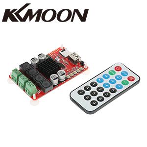 KKmoon TPA3116 2 * 50 W Módulo de Amplificador Estéreo DC 8-26V Receptor de Audio Inalámbrico Bluetooth Board Digital Disco TF Decodificador con Control Remoto SW-HF183: Amazon.es: Hogar