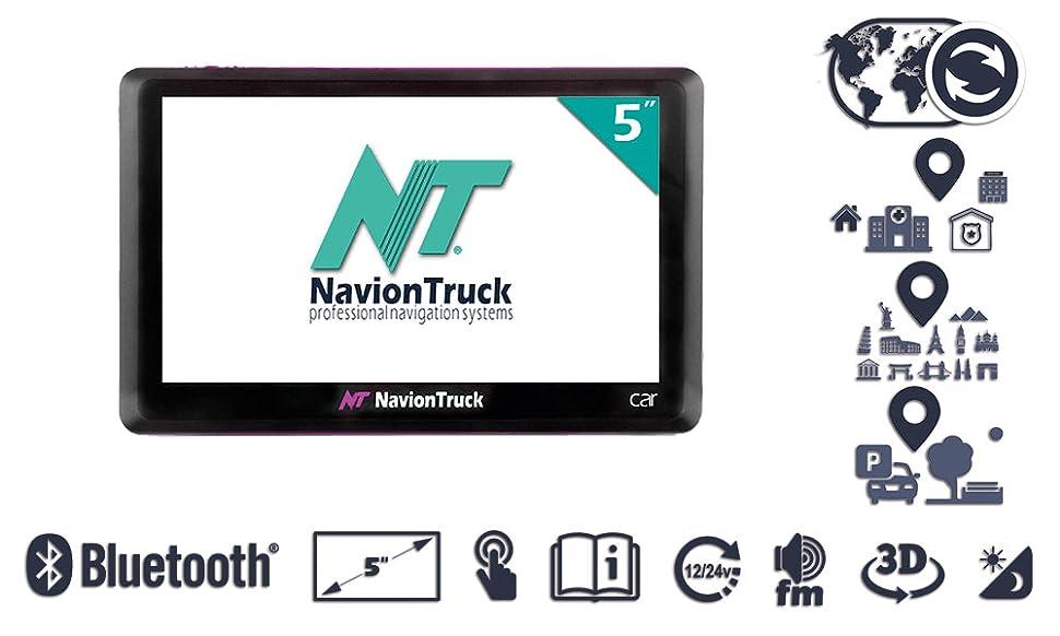 Novedoso sistema de navegación GPS para coche, taxi, ambulancia y coches de policía en 5 pulgadas. Este dispositivo cuenta con una cartografía totalmente ...