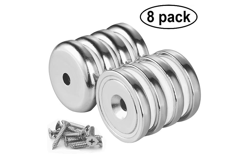 Wukong Pot Magnets 8 Paquetes N52 Base redonda fuerte Imán