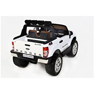 RIRICAR Ford Ranger Wildtrak 4X4 LCD Luxury, Coche eléctrico para niños, 2.4Ghz, Pantalla LCD, Rojo, 2x12V, 4 X Motor, Mando a Distancia, Dos ...