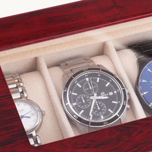Caja para Relojes de Madera Estuche para Relojes y joyeros (6): Amazon.es: Relojes