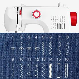 máquina de coser 16 Puntada