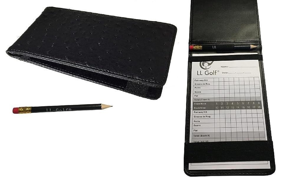 LL-Golf® Elegante Score Card holder / Soporte Incluye Lápiz y bloc ...