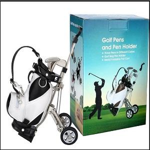 LL-Golf® portalápices en miniatura Golfbag con ruedas y 3 ...
