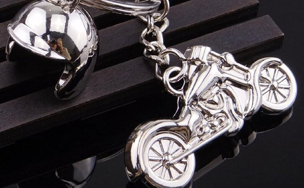 Sportigo® Motocicleta con Casco de Motorista Llaveros en ...