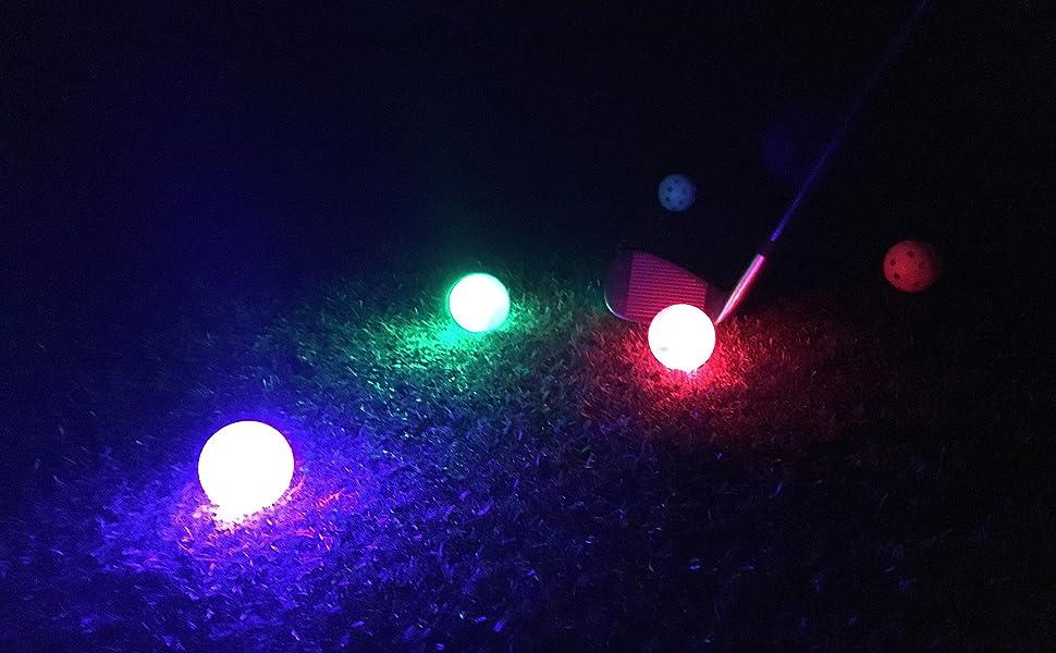 3 pieza LED pelota de golf Rojo, Verde, Azul - azul: Amazon.es ...