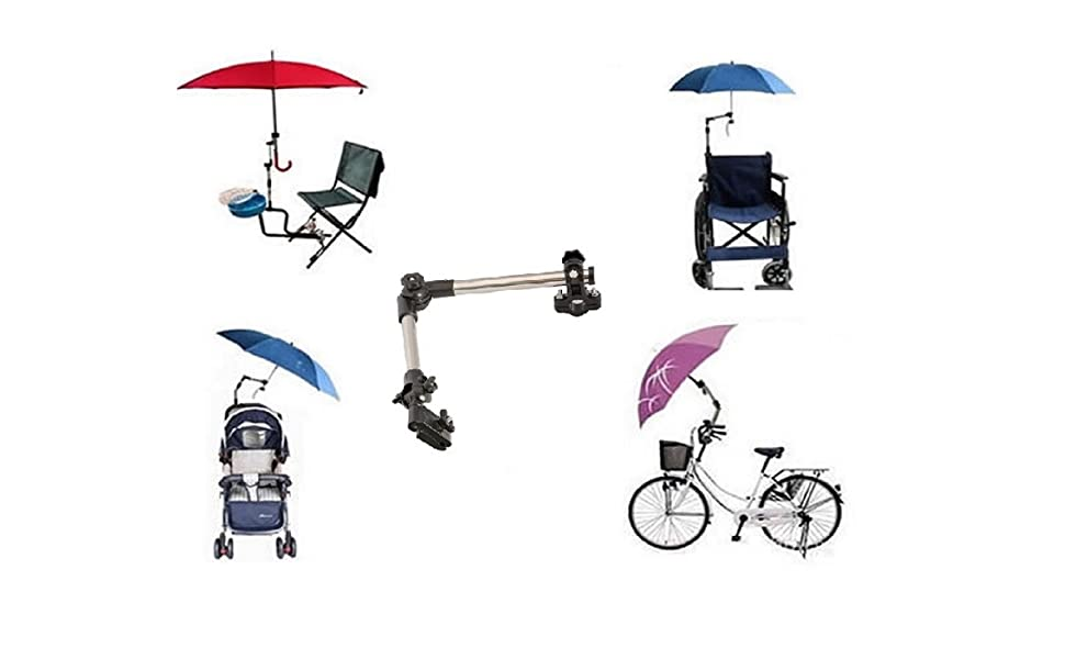 Soporte para paraguas para bicicleta / silla / Andador / Carrito / pesca / Carrito de golf / Pantalla Plana / umbrella holder