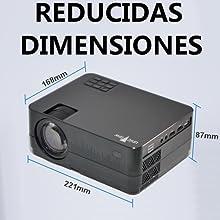 Proyector Full HD 1080P, Unicview HD320 (2019 Nuevo), Proyector 3.500 lúmenes Youtube USB Mirroring Portátil LED Cine en casa 1920x1080 HDMI USB VGA ...