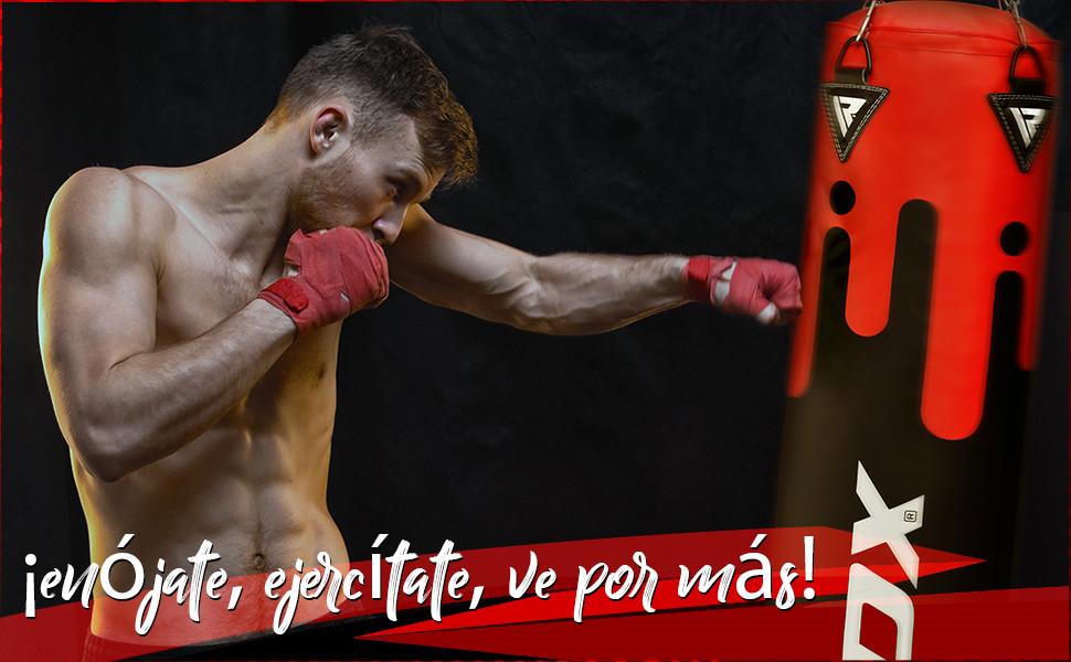 RDX Saco de Boxeo Relleno MMA Muay Thai Kick Boxing Artes Marciales con Soporte Pared Cadena Guantes 17PC 4FT 5FT Punching Bag: Amazon.es: Deportes y aire libre