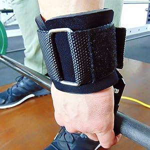 Correas de Agarre con Ganchos de Metal Levantamiento Pesas Guantes Gimnasio Musculacion Elevacións