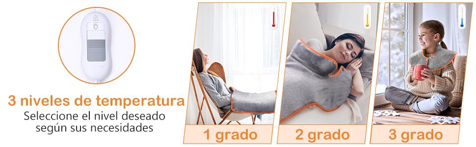 Almohadilla Eléctrica Calor 100W espalda y lumbares