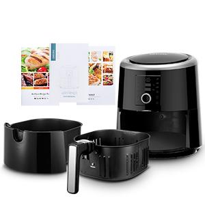 Configuración de Temperatura y Tiempo: Puede cocinar alimentos de 80 ℃ a 200 ℃ (176 ℉ a 392 ℉), 0 minuto a 60 minuto, lo que le ayuda a lograr el resultado ...