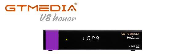 GT MEDIA V8 Honor DVB-S2 Satélite Decodificador Receptor Ricevitore HD 1080P Soporte CC CAM Youtube PVR PowerVu Biss Clave con WiFi Incorporado, Púrpura Edición V8 Nova: Amazon.es: Electrónica