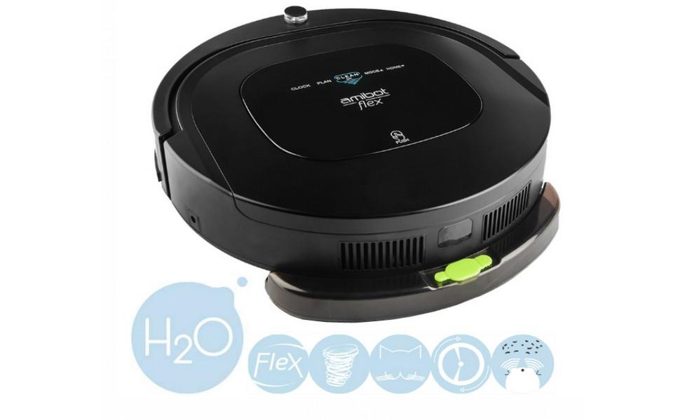 AMIBOT Flex H2O negro mate es un eficaz robot aspirador híbrido que ofrece una aspiración asombrosa. Dotado con un depósito de agua H2O para limpiar los ...