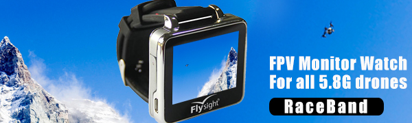 Flysight 5.8Ghz Reloj FPV Racing Band 40 Canales Receptor Pantalla ...