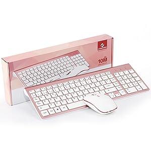 Teclado inalámbrico - Ratón inalámbrico - Receptor USB - 2 pila AAA (ratón) y 2 pilas AA (teclado) - Documentación del usuario y asistencia técnica ...