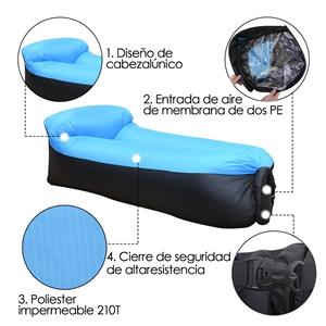 IREGRO Sofa Hinchable Tumbona Inflable Cama con Almohada integrada ...