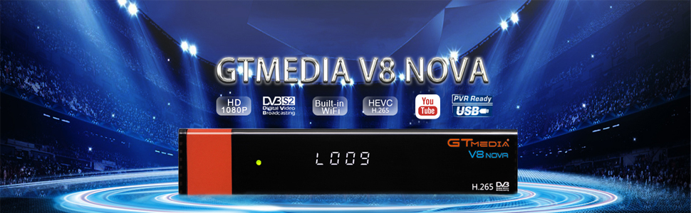 Decodificador Satelite -- GT MEDIA V8 Nova -- Receptor de TV por ...