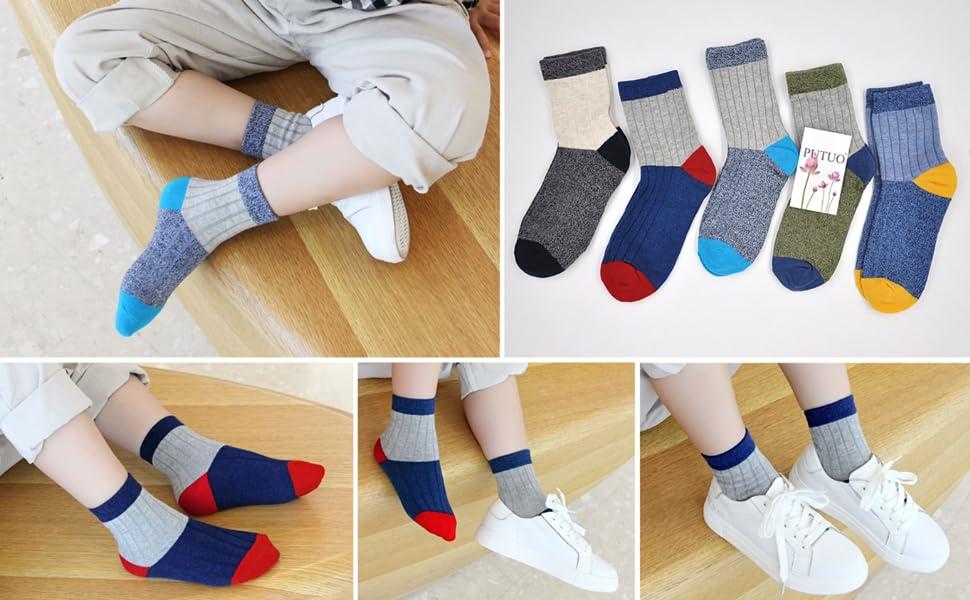 calcetines niños algodon