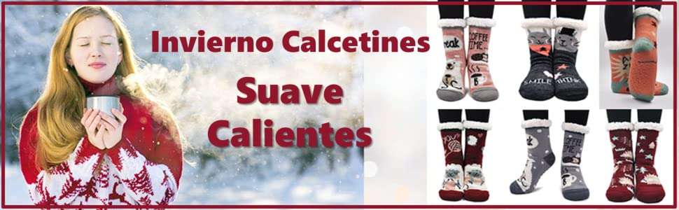 Mujer Antideslizante Calientes Calcetines