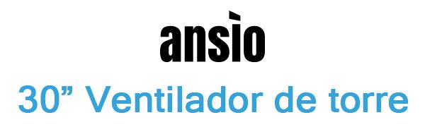 ANSIO Ventilador de Torre oscilante de 30 con Control Remoto ...