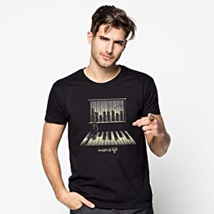 camiseta música, camiseta piano, camiseta original, camiseta teclas, camiseta guitarra.