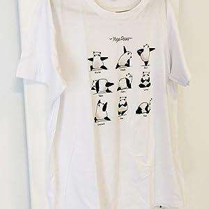 Camiseta Yoga Panda - Yogi - 100% Algodón - Serigrafía ...