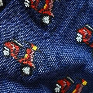 Calcetines cortos, calcetines divertidos, calcetines Vespa, calcetines vintage, calcetines moto