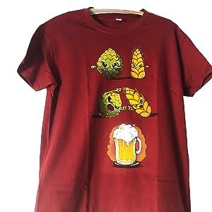 efde55f25 Pampling Camiseta Beer Fusion - Cerveza - Color Cranberry - 100 ...