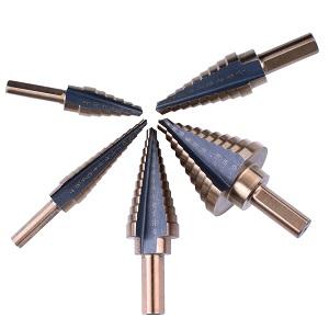 NOUVCOO NC03 Brocas Escalonadas, HSS de Titanio Cobalto Acero de Alta Velocidad, 1/4