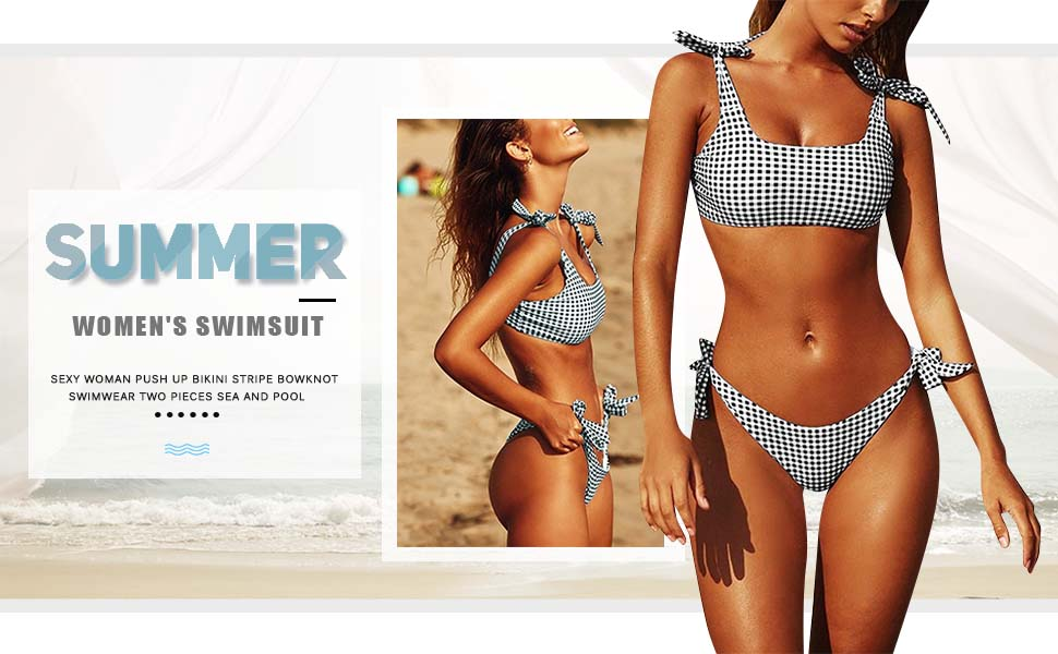 women's high waisted bikinis top bikini sets for women swimming costume tankini sets modest swimwear