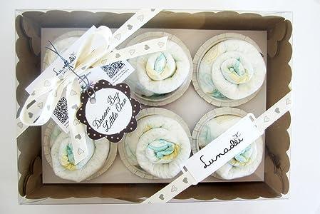 Caja de Cupcakes hechos con Pañales DODOT