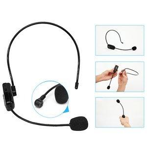 Auricular y asidero 2 en 1: quite el soporte de la cabeza, sostenga el transmisor en la mano, se convertirá en un micrófono de la mano.