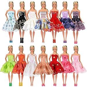 ff50370a4a Miunana 5x Vestidos de Noche Mini Vestido Corto Ropas Casual Vestir Fiesta  como Regalo para Muñeca Barbie Doll Estilo al Azar