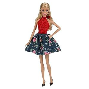 Vestidos barbie elegante y encantador,más fácil de usar, el vestido corto para la fiesta de la moda u otro festival.
