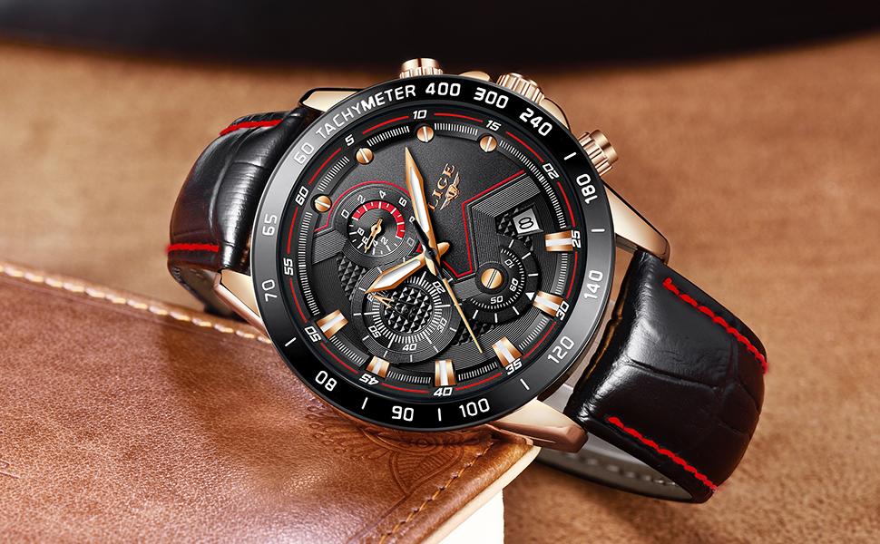 El reloj para caballero cuenta con una esfera clásica en negro 5199a47d495a