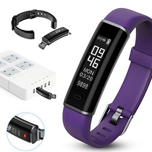 Fitness Tracker,monitor de ritmo cardíaco inteligente IP67 Mujeres hombres