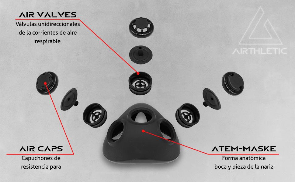 máscara de entrenamiento fitness resistencia a la altura elevación de la piel 2.0 3.0