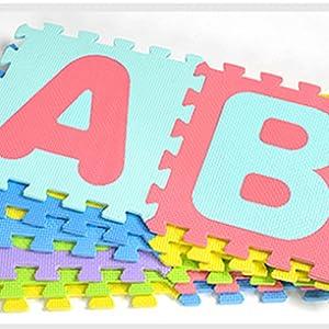 Puzzle goma EVA de 36 piezas | Alfombra infantil puzzle de letras | Alfombra puzle (36 piezas) | Alfombra goma para bebé | Alfombra bebe | Alfombra ...