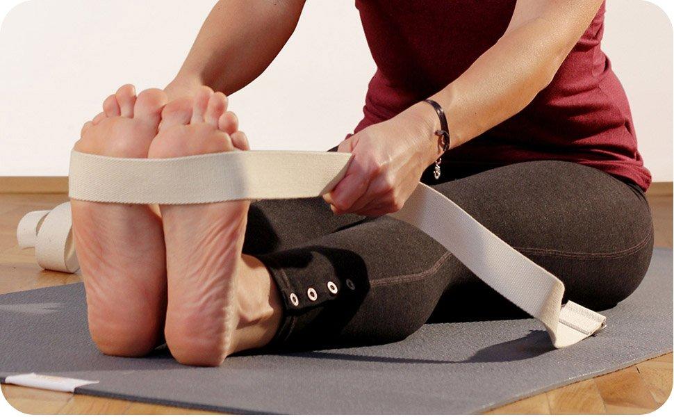Lotuscrafts Yoga Cinturon Algodon - 100% Algodon (Cultivo Biológico) - Correa Yoga Algodon para Mejores Estiramientos - Cinturón de Yoga con Cierre de ...