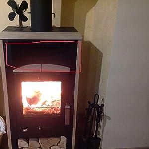Si la chimenea está separada de la encimera, de modo que el ventilador se coloque sobre ella pero el calor no pueda subir,entonces el ventilador no ...
