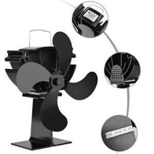 Lacyie Ventilador de Chimenea,Calor Powered Ecologico Ventilador de 4 Aspas para Estufa Quemador de Madera/Registro/Chimenea - Silencioso y Respetuoso con el medio ambiente: Amazon.es: Bricolaje y herramientas