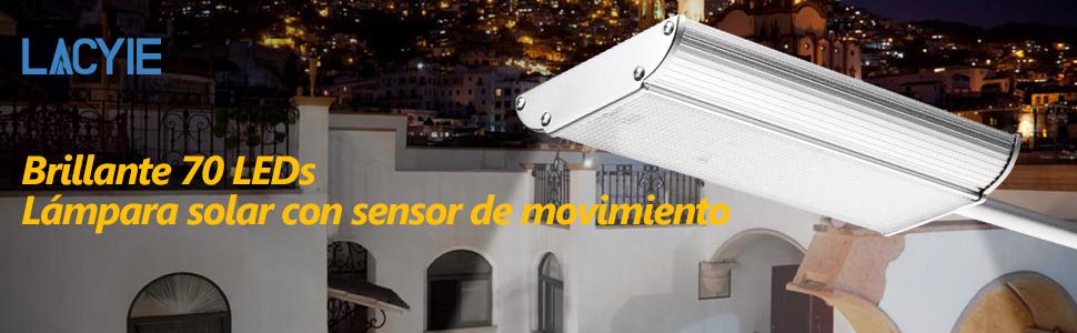 Lacyie 70 Lámpara de aleación de aluminio y controlable por sensor de radar a distancia,brindarte una vida brillante y cómoda.