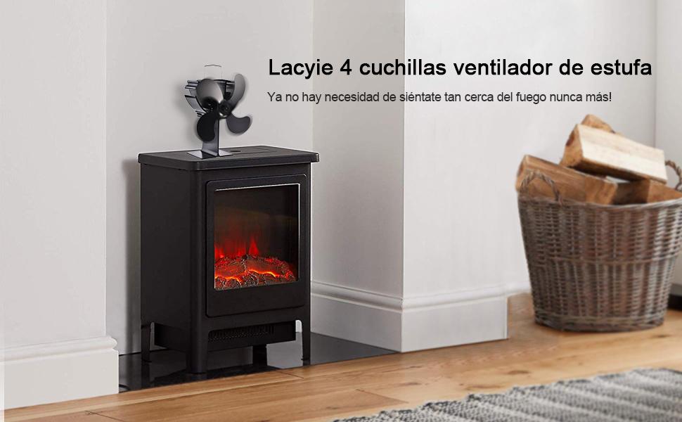 Lacyie Ventilador de Chimenea,Calor Powered Ecologico Ventilador ...