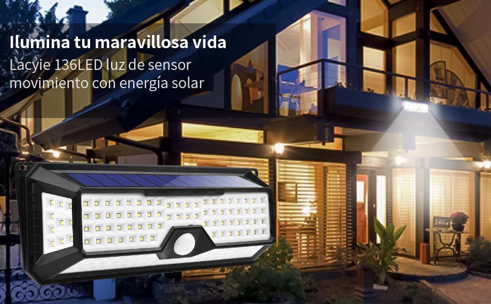 3 Modos de Iluminación Diferentes: ①Modo sensor