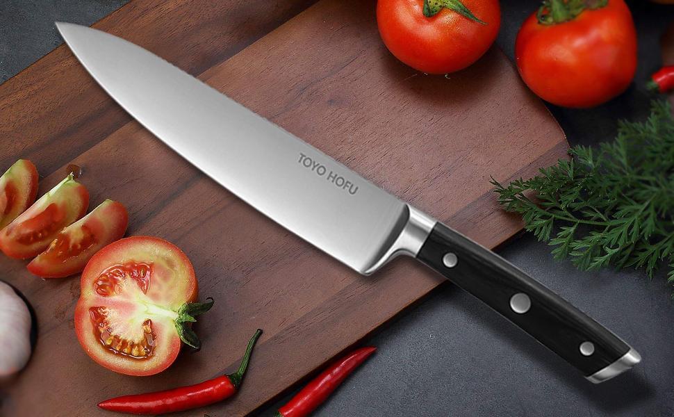 TOYO HOFU Cuchillo cocinero alemán acero inoxidable 1.4116 ...