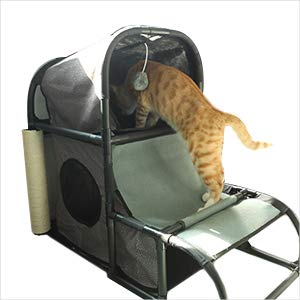 ... las cosas que quiere, desde descansar hasta saltar y perfeccionar sus habilidades de caza expertas. El apartamento privado para gatitos con una cubierta ...