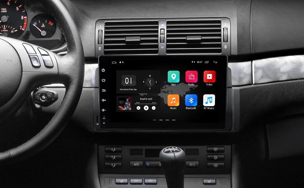 eonon Android 8.1 fit BMW E46 320 325 1999 2000 2001 2002 2003 ...