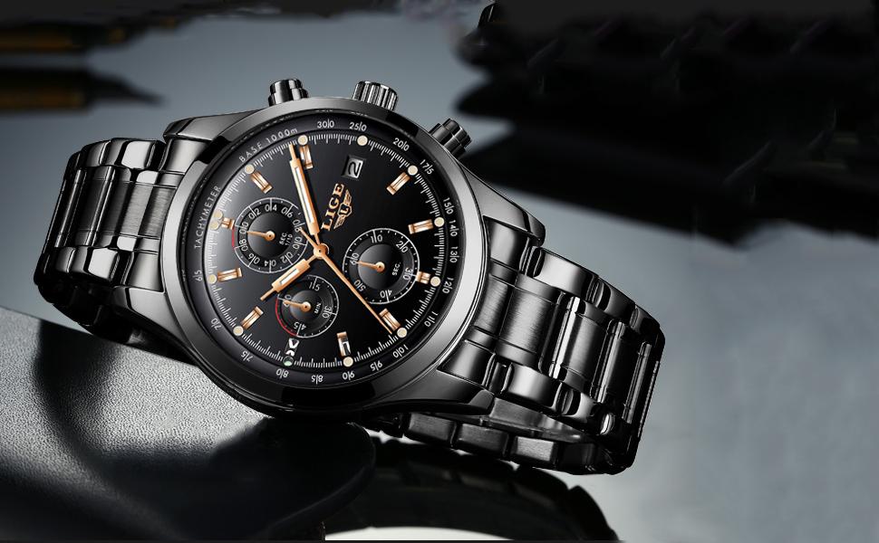 Marca LOGO y la información del reloj grabada en la parte inferior del reloj