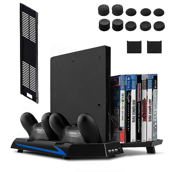 Keten PS4 Slim / PS4 Soporte Vertical con Ventilador 2 en 1 ...
